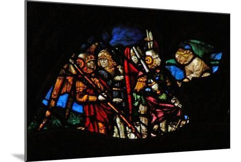 The West Rose Window Depicting a Scene from the Book of Revelation: Four Angels of the Euphrates…-French School-Mounted Giclee Print