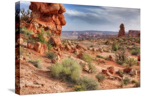 Rocky Southwest Landscape, Moab-Vincent James-Stretched Canvas Print