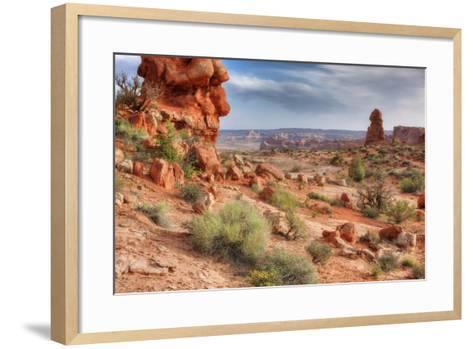 Rocky Southwest Landscape, Moab-Vincent James-Framed Art Print