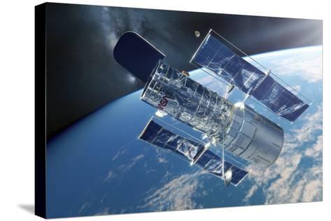 Hubble Space Telescope, Artwork-Detlev Van Ravenswaay-Stretched Canvas Print