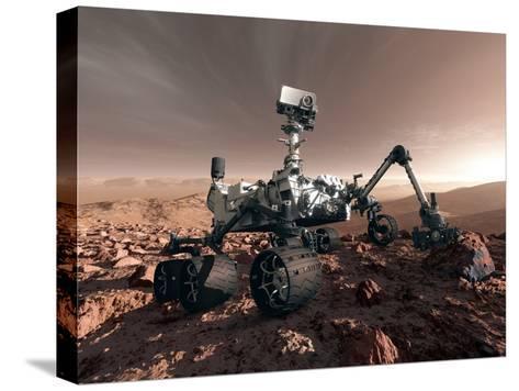 Curiosity Rover, Artwork-Detlev Van Ravenswaay-Stretched Canvas Print