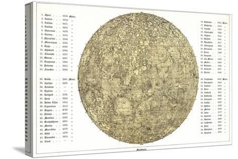 Lunar Map, 1822-Detlev Van Ravenswaay-Stretched Canvas Print