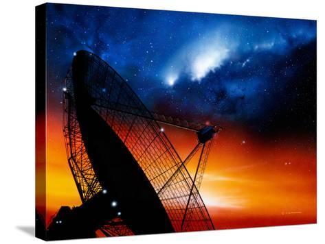Radio Telescope-Detlev Van Ravenswaay-Stretched Canvas Print