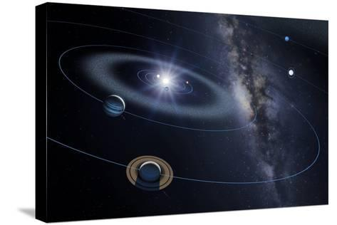 Solar System, Artwork-Detlev Van Ravenswaay-Stretched Canvas Print