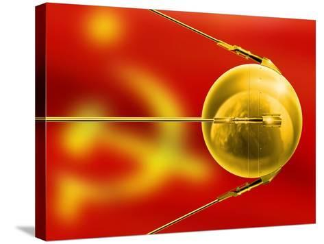 Sputnik 1, Artwork-Detlev Van Ravenswaay-Stretched Canvas Print
