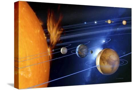 Solar System-Detlev Van Ravenswaay-Stretched Canvas Print