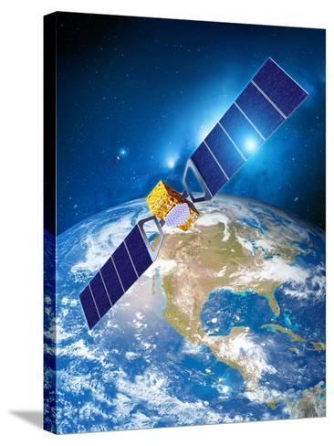 Galileo Navigation Satellite-Detlev Van Ravenswaay-Stretched Canvas Print
