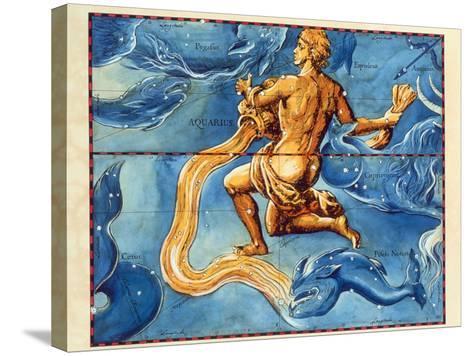 Historical Artwork of the Constellation Aquarius-Detlev Van Ravenswaay-Stretched Canvas Print