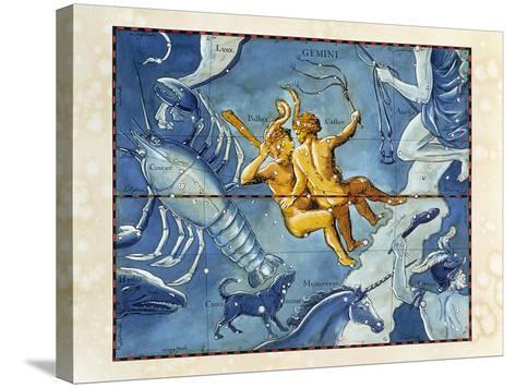 Historical Artwork of the Constellation of Gemini-Detlev Van Ravenswaay-Stretched Canvas Print