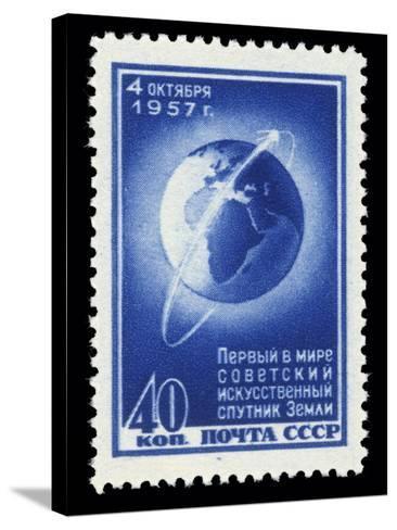 Sputnik 1 Stamp-Detlev Van Ravenswaay-Stretched Canvas Print
