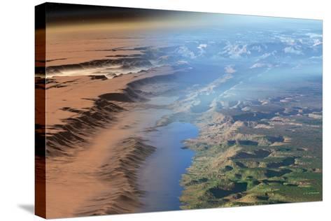 Terraformed Mars, Artwork-Detlev Van Ravenswaay-Stretched Canvas Print