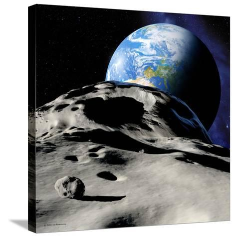 Near-Earth Asteroid-Detlev Van Ravenswaay-Stretched Canvas Print