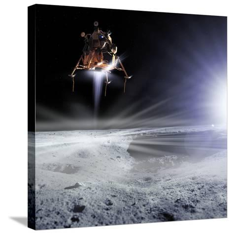 Apollo 11 Moon Landing, Computer Artwork-Detlev Van Ravenswaay-Stretched Canvas Print