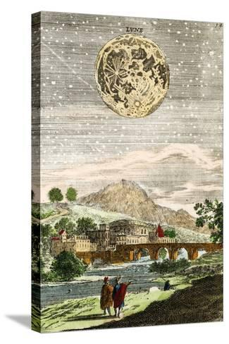 Early Map of the Moon, 1635-Detlev Van Ravenswaay-Stretched Canvas Print
