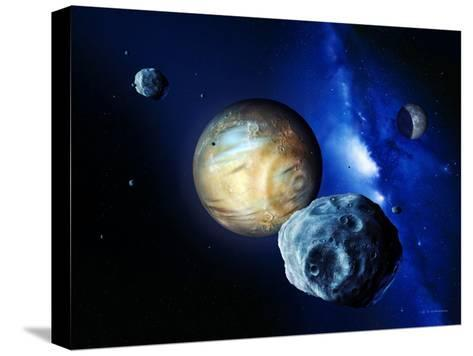 Pluto And Charon And Kuiper Belt-Detlev Van Ravenswaay-Stretched Canvas Print