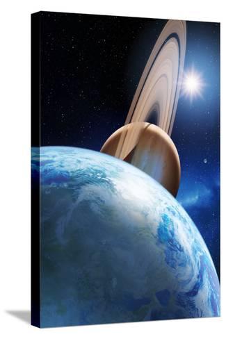 Alien Planetary System-Detlev Van Ravenswaay-Stretched Canvas Print