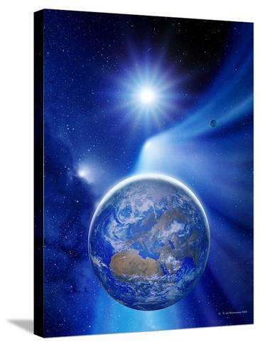 Earth In a Comet's Tail-Detlev Van Ravenswaay-Stretched Canvas Print