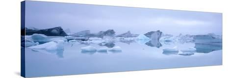 Icebergs-Jeremy Walker-Stretched Canvas Print