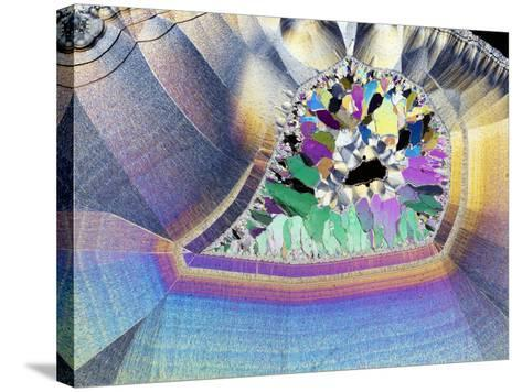Geode In Thin Section-Dirk Wiersma-Stretched Canvas Print