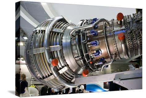 Aircraft Engine on Display.-Mark Williamson-Stretched Canvas Print