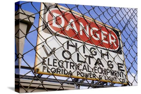 Danger High Voltage Sign In Cocoa Florida-Mark Williamson-Stretched Canvas Print