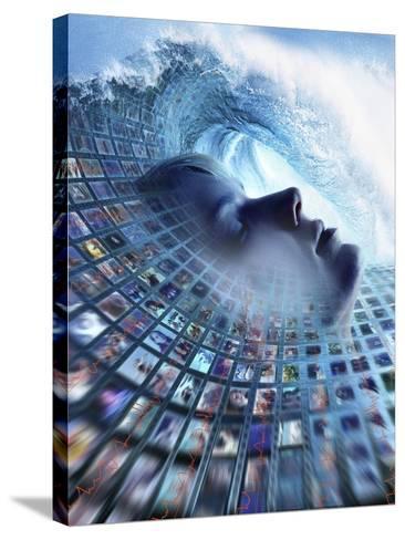 Information Overload, Conceptual Image-SMETEK-Stretched Canvas Print
