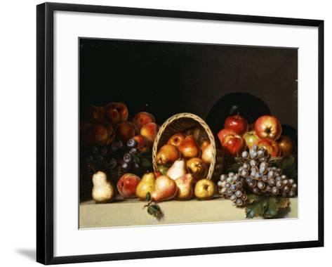 Apples, Pears, Plums and Grapes-Charles Bird King-Framed Art Print