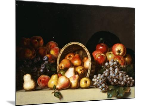 Apples, Pears, Plums and Grapes-Charles Bird King-Mounted Giclee Print