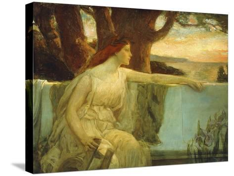 Distant Idyll-Charles Allan Winter-Stretched Canvas Print