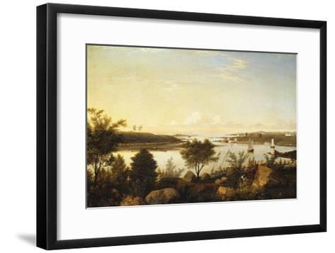 The Annisquam River Looking Toward Ipswich Bay-Fitz Hugh		 Lane-Framed Art Print
