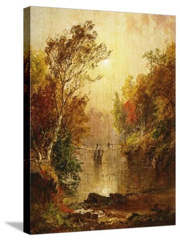 Autumn on the Wawayanda-Jasper Francis Cropsey-Stretched Canvas Print