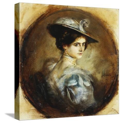 Portrait of a Lady-Franz Seraph von Lenbach-Stretched Canvas Print