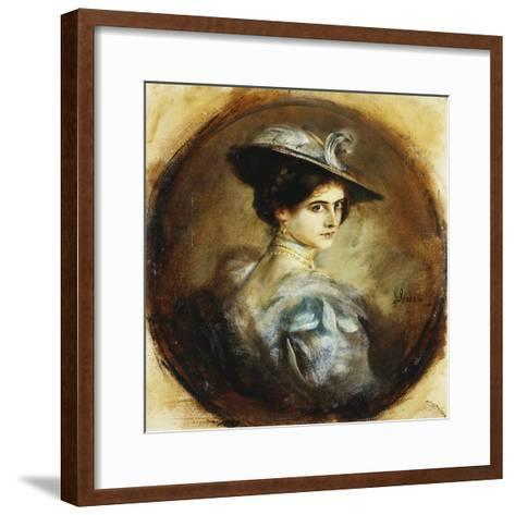 Portrait of a Lady-Franz Seraph von Lenbach-Framed Art Print