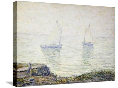 Sailboats-Ernest Lawson-Stretched Canvas Print