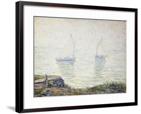 Sailboats-Ernest Lawson-Framed Art Print