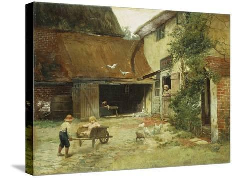 A Cottage in Brooklyn-James Wells Champney-Stretched Canvas Print