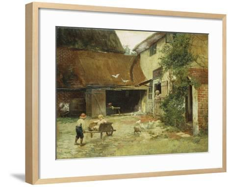 A Cottage in Brooklyn-James Wells Champney-Framed Art Print
