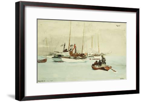 Schooners at Anchor, Key West-Winslow Homer-Framed Art Print
