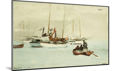 Schooners at Anchor, Key West-Winslow Homer-Mounted Giclee Print