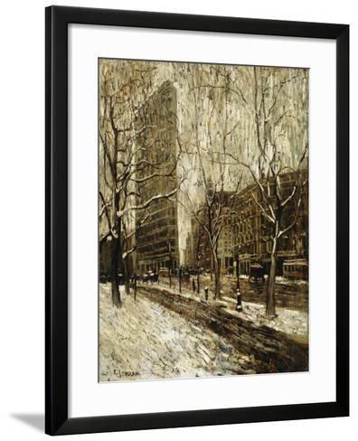 The Flatiron Building, New York-Ernest Lawson-Framed Art Print
