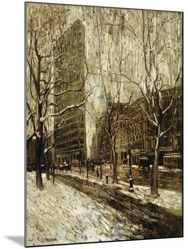 The Flatiron Building, New York-Ernest Lawson-Mounted Giclee Print