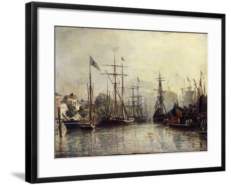 Rotterdam Harbour-Johan Barthold Jongkind-Framed Art Print