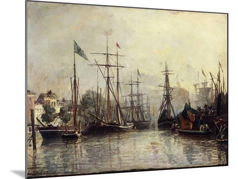 Rotterdam Harbour-Johan Barthold Jongkind-Mounted Giclee Print