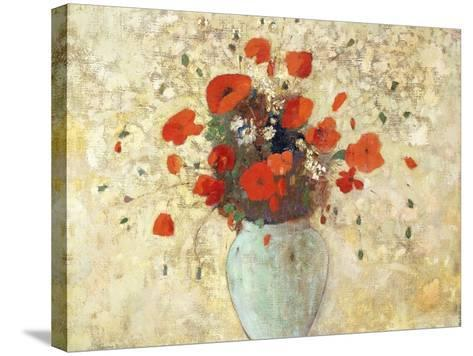 Vase of Poppies-Odilon Redon-Stretched Canvas Print