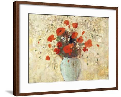 Vase of Poppies-Odilon Redon-Framed Art Print