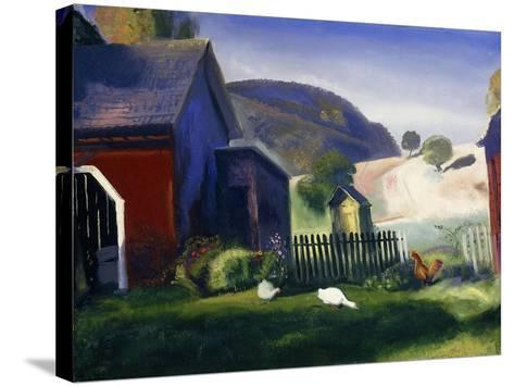 Barnyard and Chickens-George Wesley Bellows-Stretched Canvas Print
