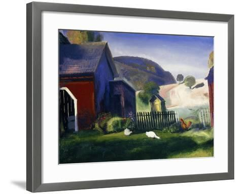 Barnyard and Chickens-George Wesley Bellows-Framed Art Print