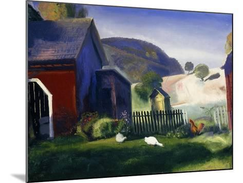 Barnyard and Chickens-George Wesley Bellows-Mounted Giclee Print