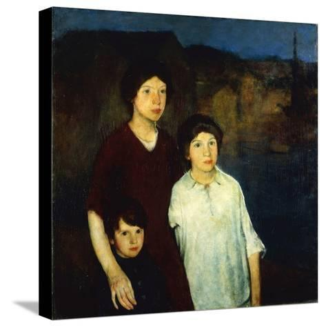 Waiting-Charles Webster Hawthorne-Stretched Canvas Print