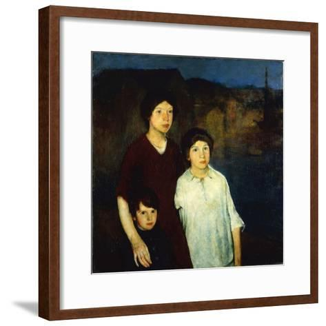 Waiting-Charles Webster Hawthorne-Framed Art Print
